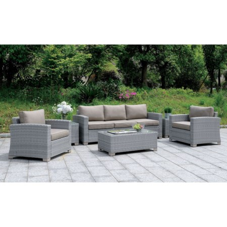 Outdoor Sofa, Coffee Table, End Tables Set