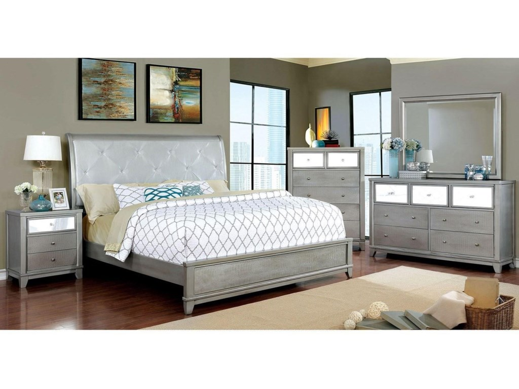 Furniture Of America Bryant Ii Queen Bed And 1ns And Dresser And