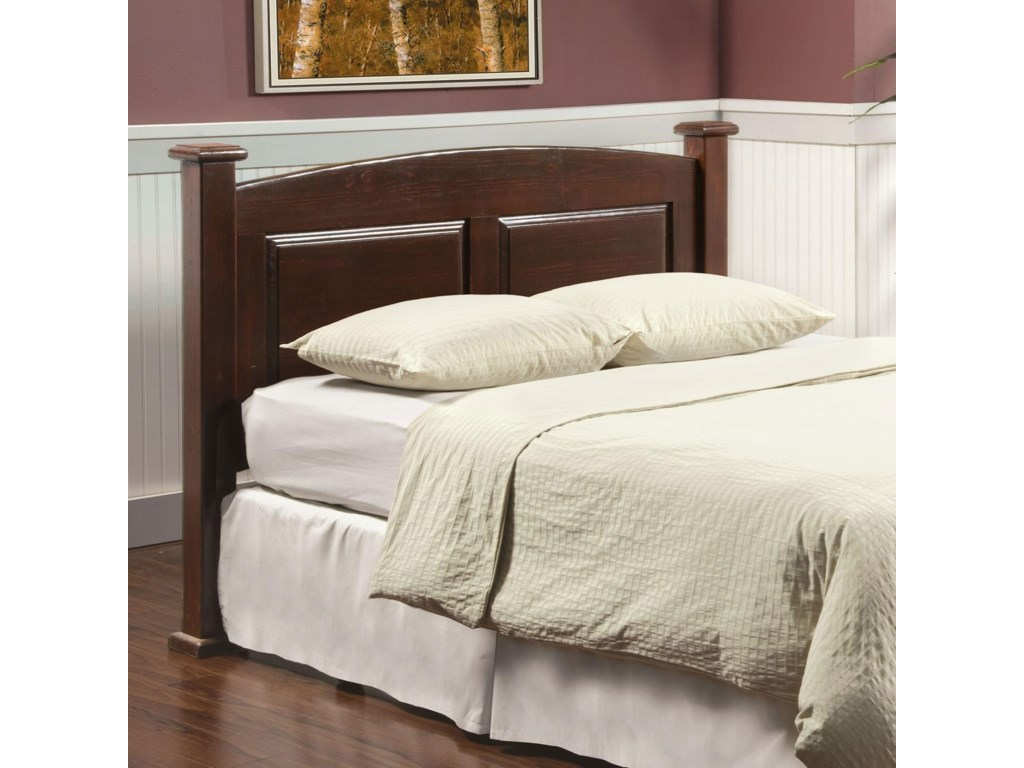 Buffalo Queen Size Arched Panel Headboard In Dark Cherry Finish By Furniture Of America At Rooms For Less
