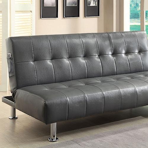 Furniture of America Bulle Leatherette Futon Sofa