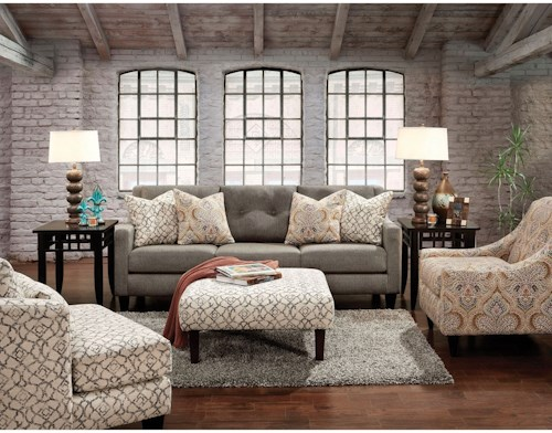 Furniture of America Burlon Love Seat