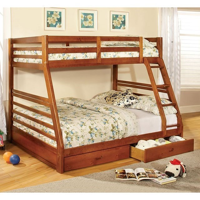 Furniture Of America California Iii Cm Bk588a Bed Twin Full Bunk Bed