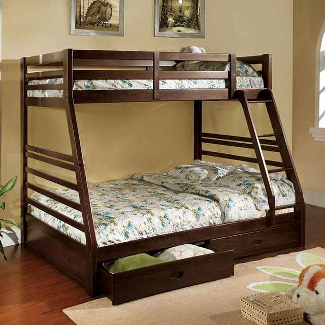 Furniture Of America California Iii Cm Bk588ex Bed Twin Full Bunk