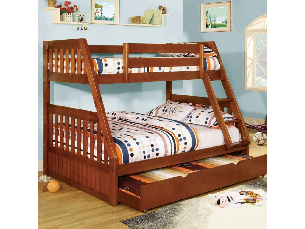Furniture Of America Canberra Twin Over Full Bunk Bed Rooms For