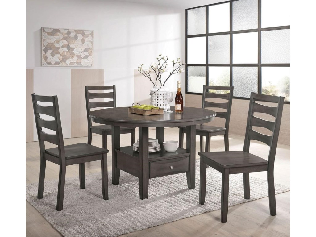 Furniture Of America Caprice Transitional Dining And Table Set For Four