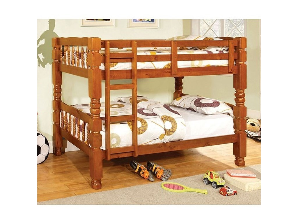 Furniture of America CarolinaTwin/Twin Bunk Bed *Bunkie Board Required
