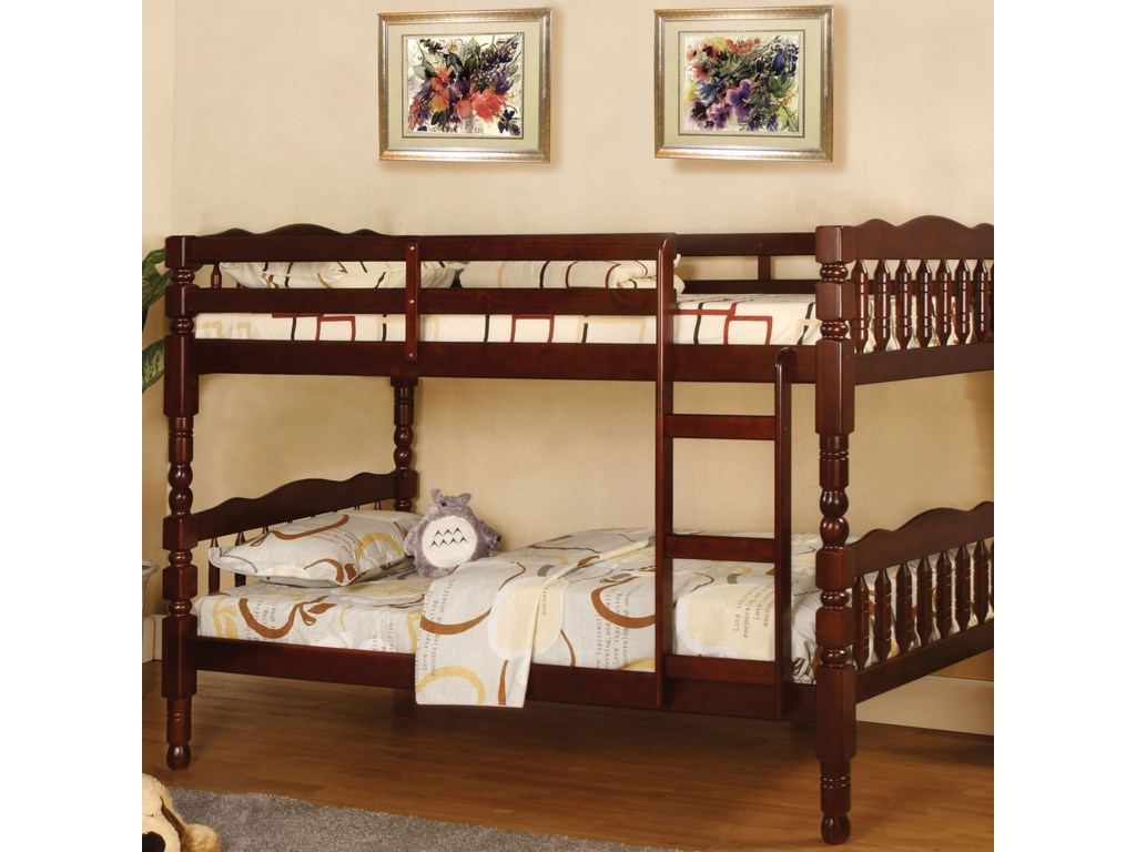 Furniture Of America Catalina Twin Twin Bunk Bed Bunkie Board