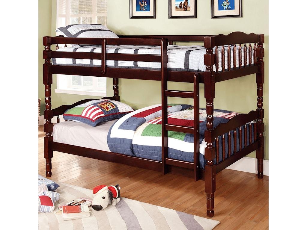 Furniture Of America Catalina Twin Twin Bunk Bed Bunkie Board