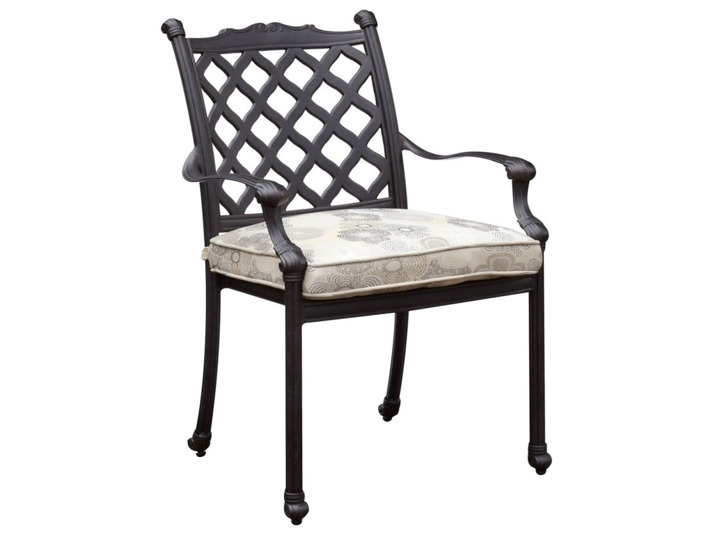 Chiara I Traditional Outdoor Dining Chair with Cushion (Set of 4) by  America at Del Sol Furniture
