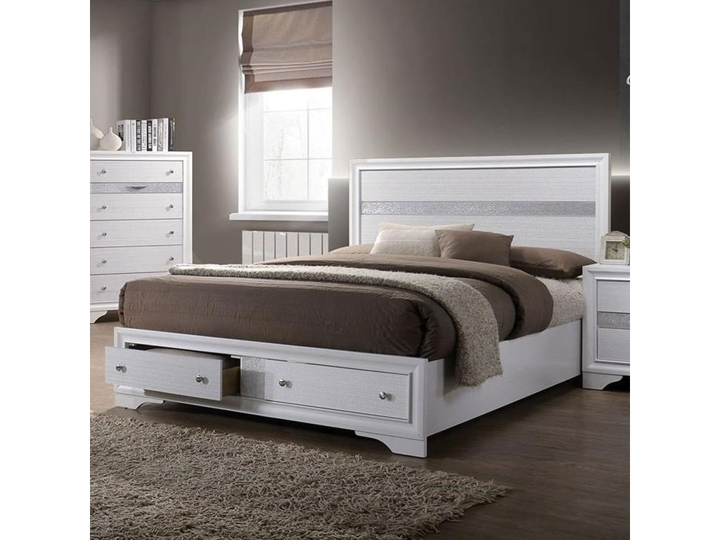 Chrissy Contemporary Queen Bed by Furniture of America at Rooms for Less
