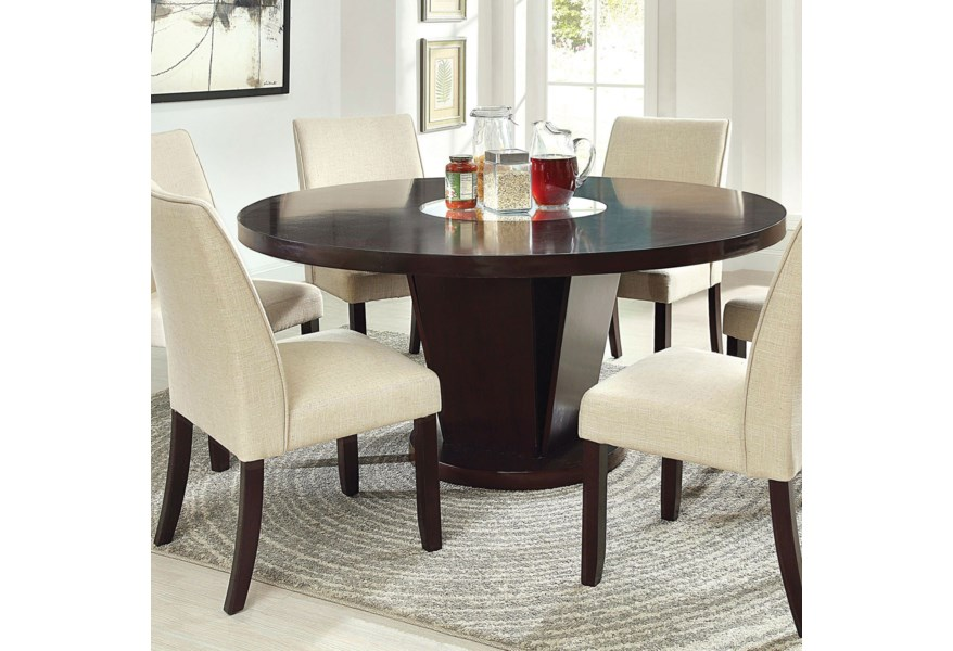 Furniture Of America Cimma Transitional Round Dining Table Dream Home Interiors Dining Tables