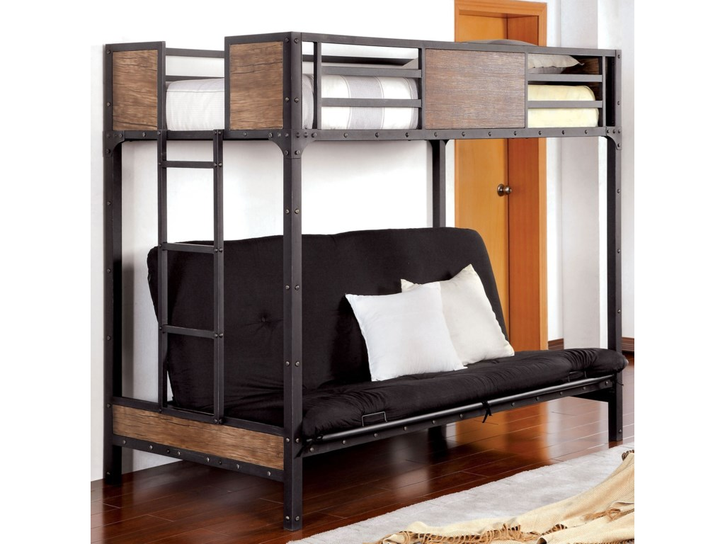 Furniture Of America Claptontwin Bed W Futon Base