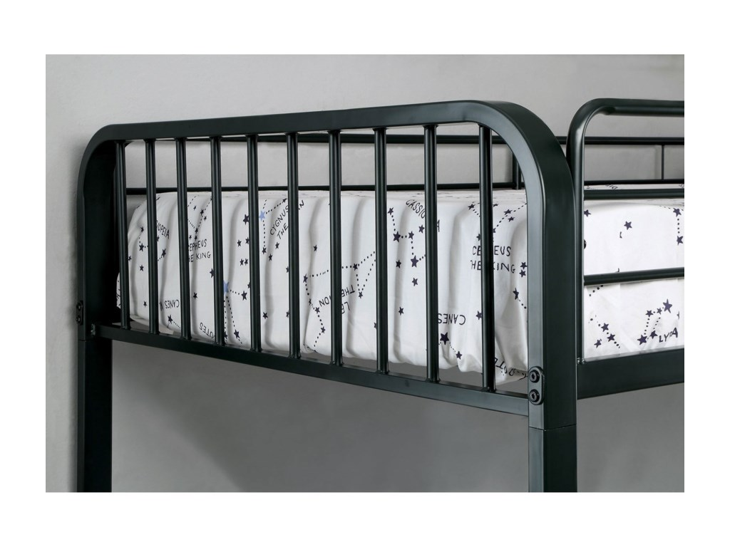 Furniture of America ClementMetal Full/Full Bunk Bed