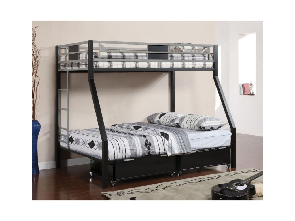 Furniture of America CliftonTwin over Full Bunk Bed
