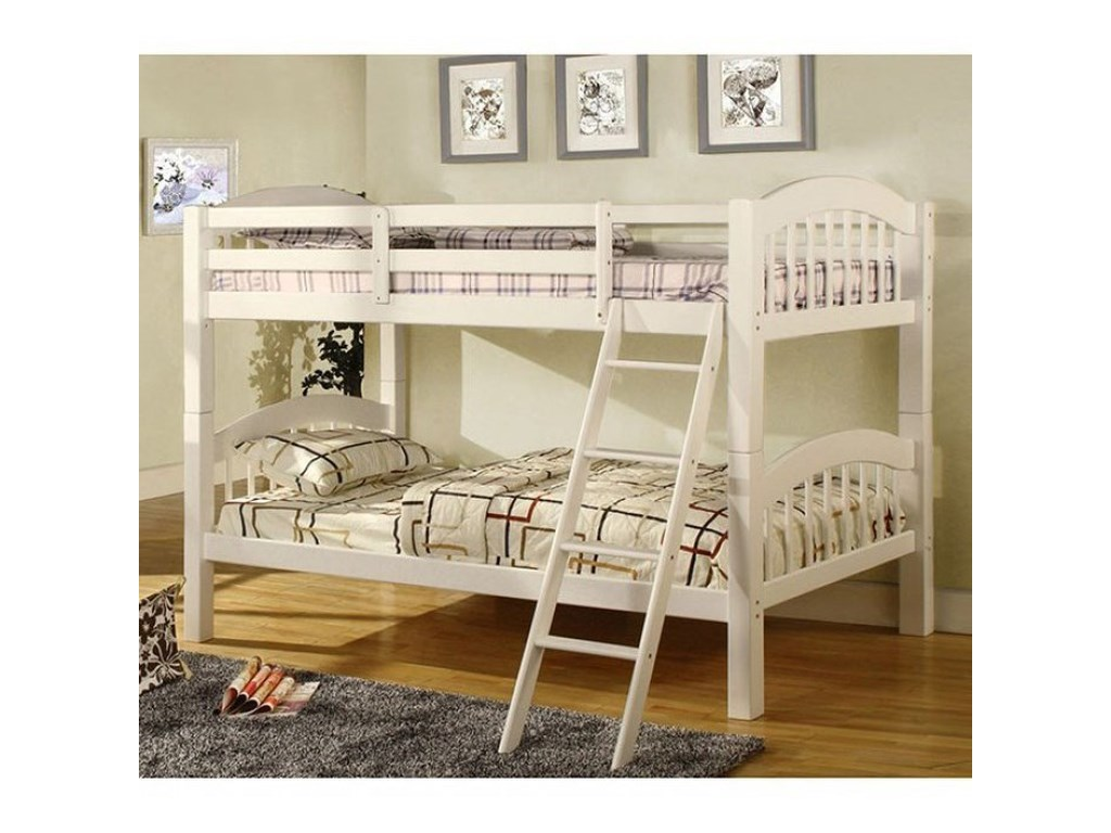 Furniture of America Coney IslandTwin over Twin Bunk Bed
