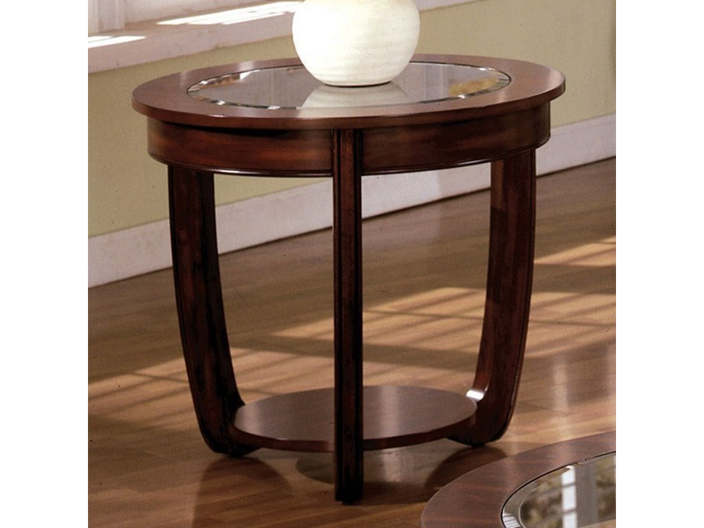 Furniture Of America Crystal Falls Transitional End Table With Glass