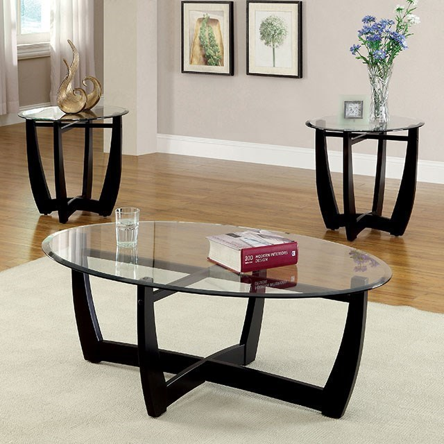 Furniture of America Dafni3 Pc. Table Set (Coffee + 2 End)