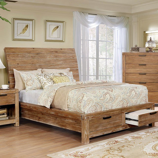 furniture of america dion rustic low profile california king bed rh roomsforlessoh com