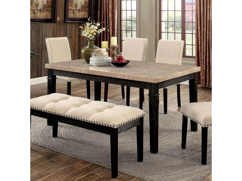 America Dodson Transitional Dining Table