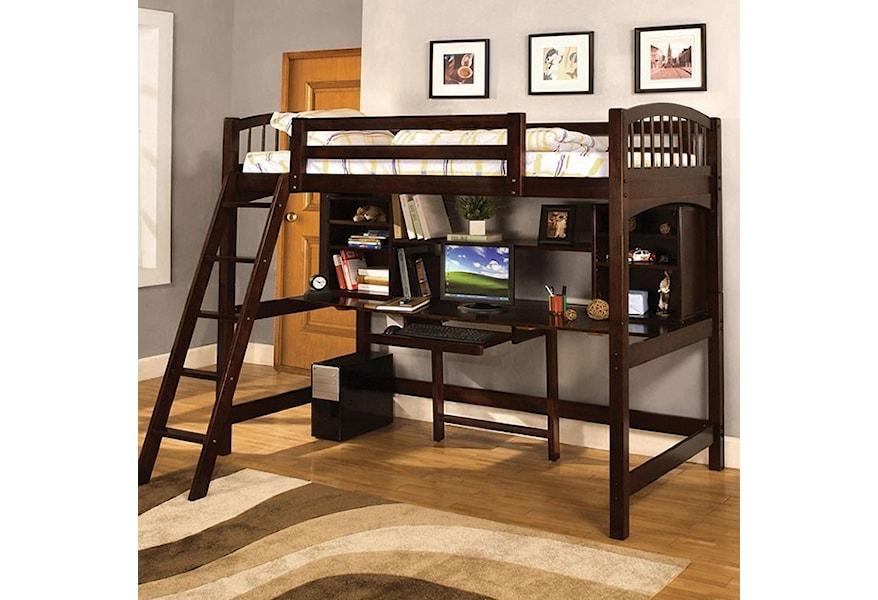 Furniture Of America Dakota Ridge Twin Youth Loft Bed With Desk
