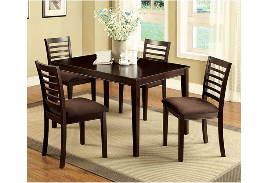 Eaton I 5 Pc Dining Table Set Household Furniture Dining 5 Piece Sets