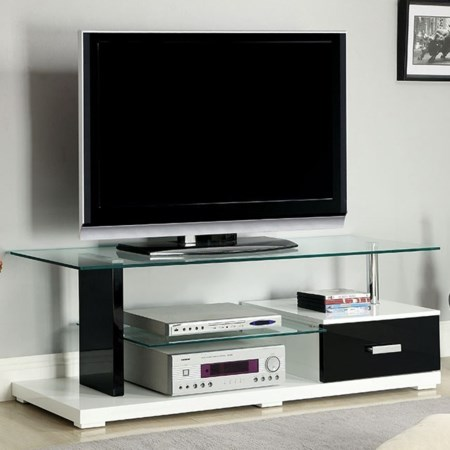 """55"""" Glass Top TV Console"""