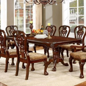 Furniture Of America Elana Traditional Dining Table With Expandable Leaf Dream Home Interiors Dining Tables