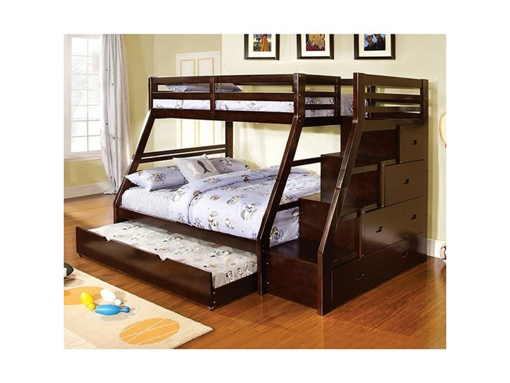 FUSA EllingtonTwin/Full Bunk Bed