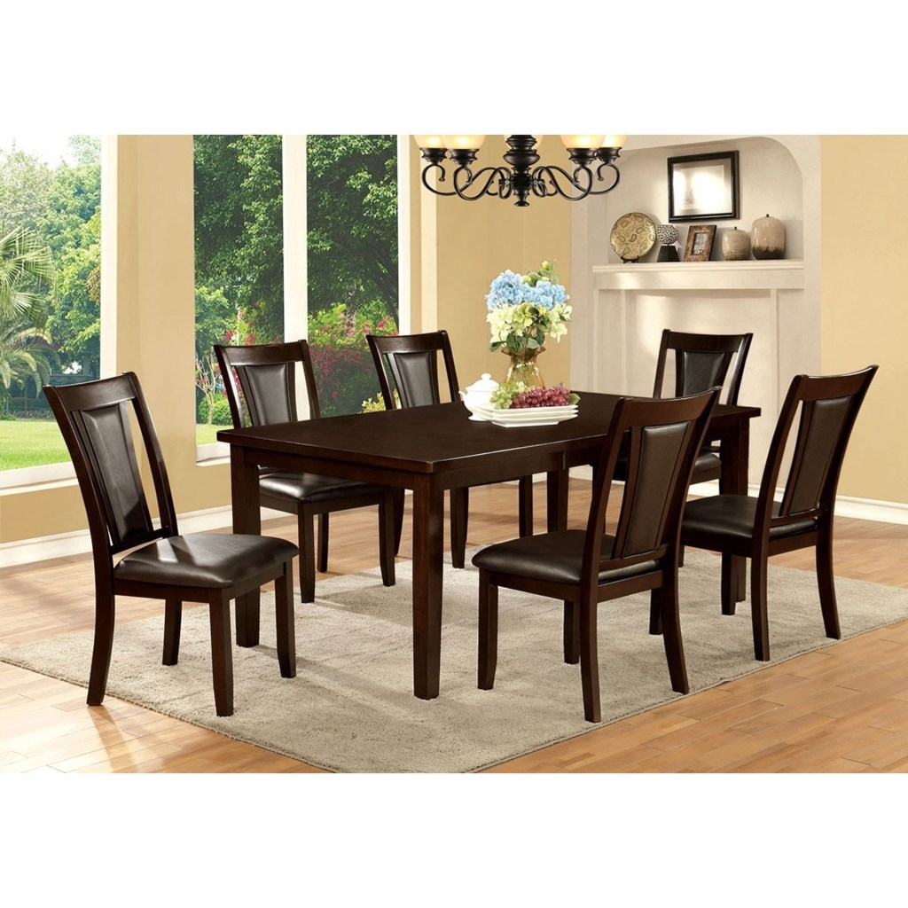 Furniture Of America Emmons I Transitional Rectangular Dining Table