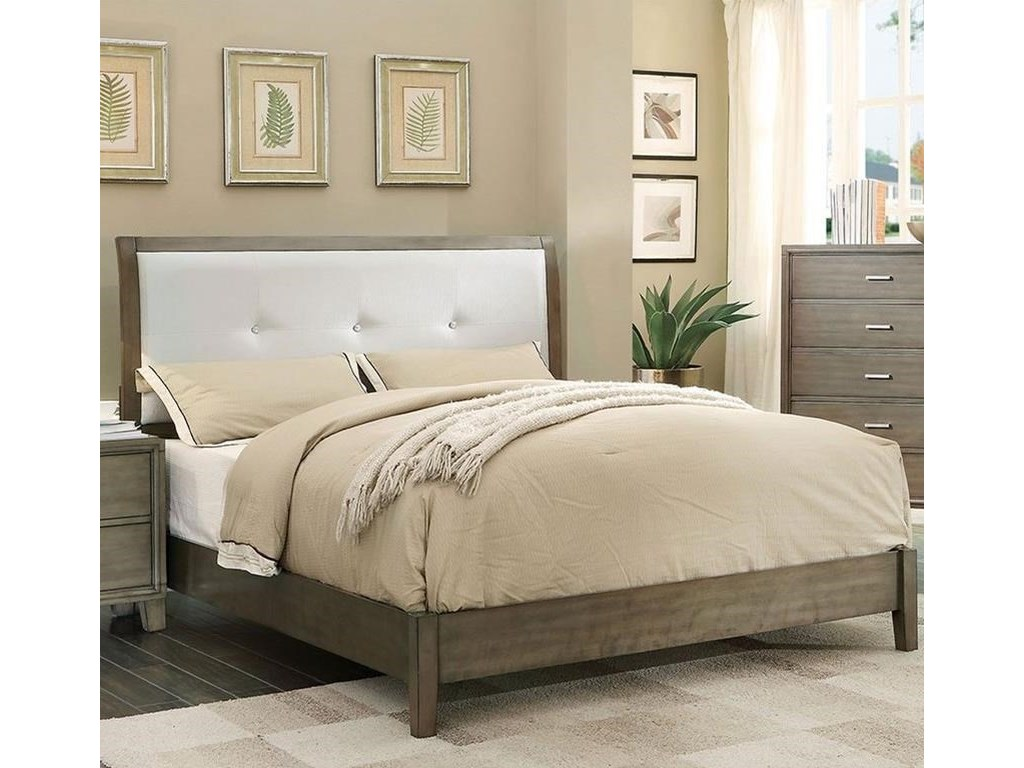 Furniture of America Enrico I CM7068GY-Q-BED Queen ...
