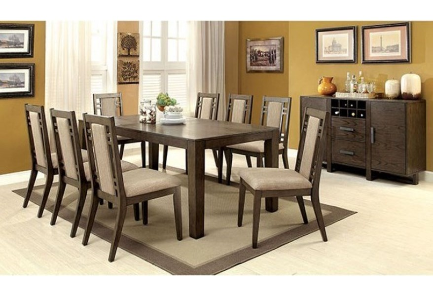 Furniture Of America Foa Eris I Cm3213t 7pc Table 6 Chairs Del Sol Furniture Dining 7 Or More Piece Sets