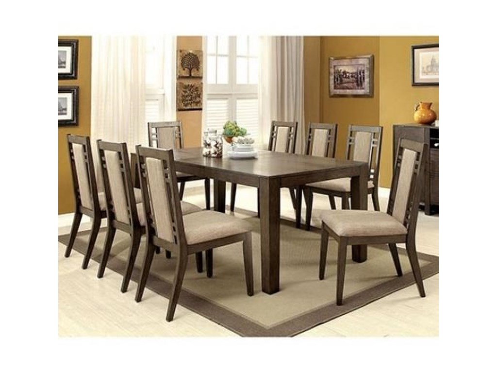 Eris I Transitional Dining Table With Expandable Leaf By America At Del Sol Furniture