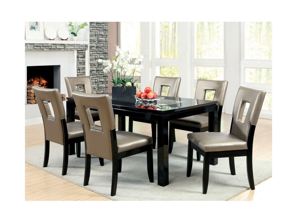 Evant I Dining Table Set With Six Chairs