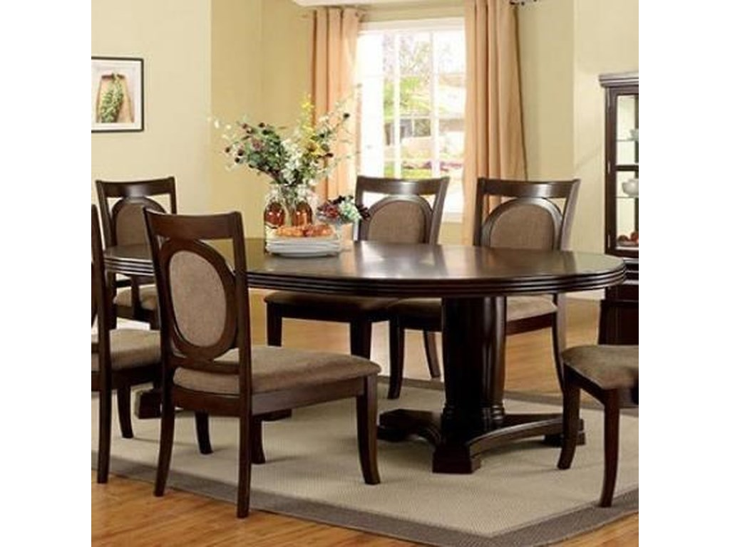 Evelyn Transitional Dining Table With Leaf By Furniture Of America At Rooms For Less