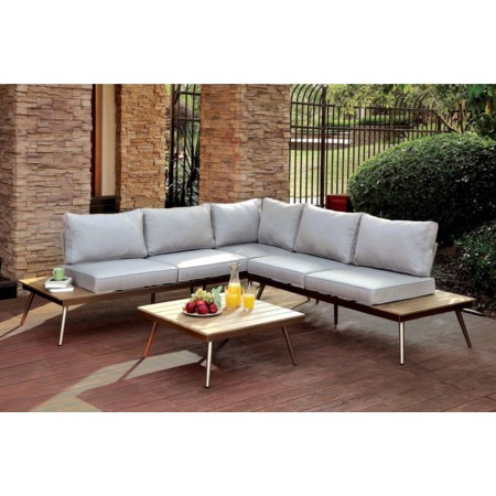 Patio Sectional w/ Corner Chair