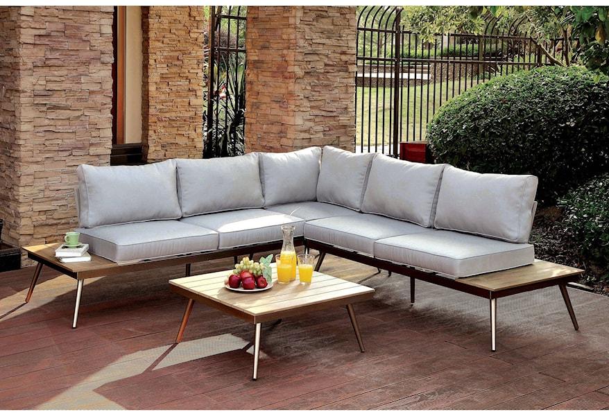 Mid Century Modern Patio Sectional Sofa