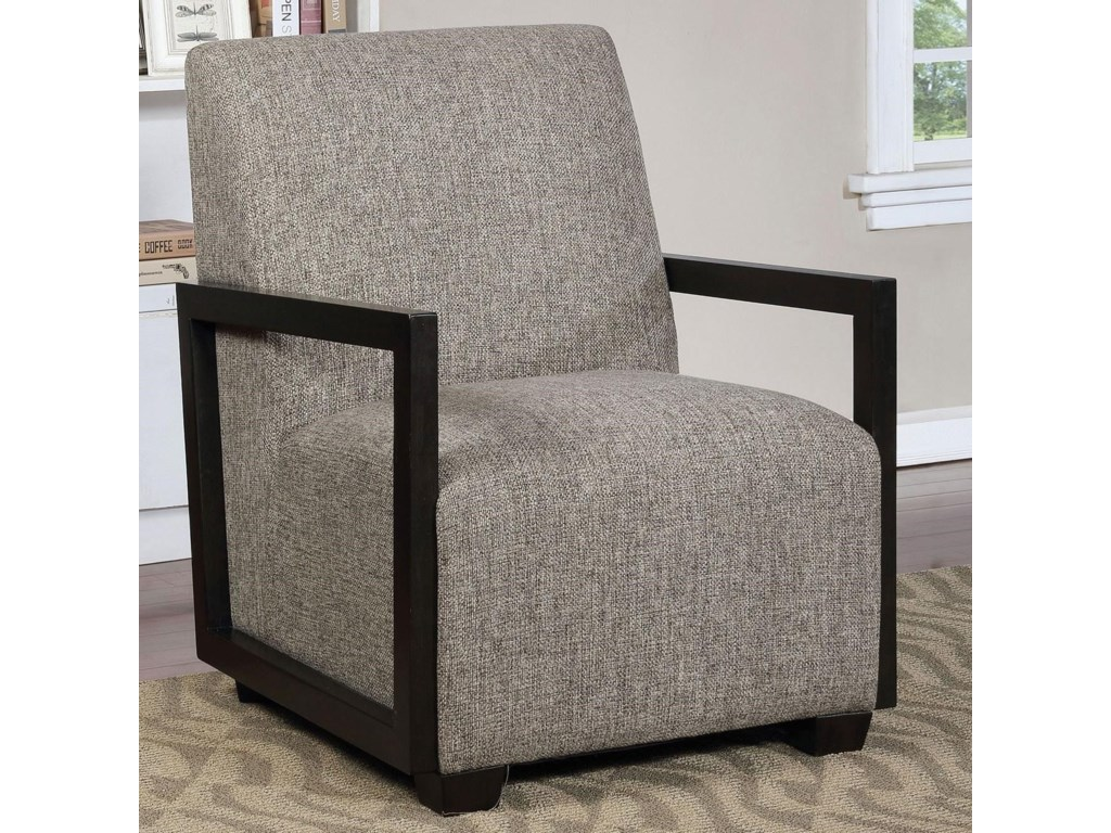 America Fermoy Cm Ac6383gy Contemporary Accent Chair With Square