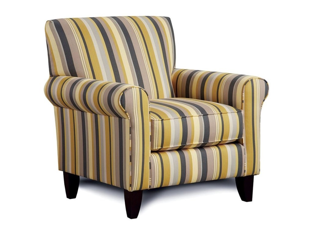 Furniture of America FitzgeraldChair with Stripes
