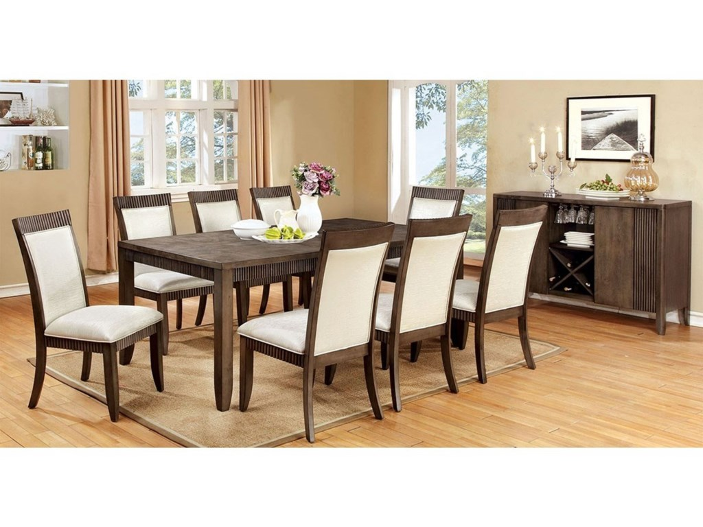Furniture Of America Forbes I Table 8 Chairs