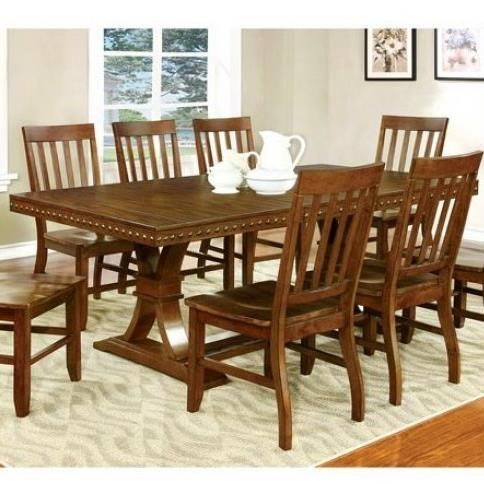 Furniture Of America Foster I Transitional Dining Table With Leaf