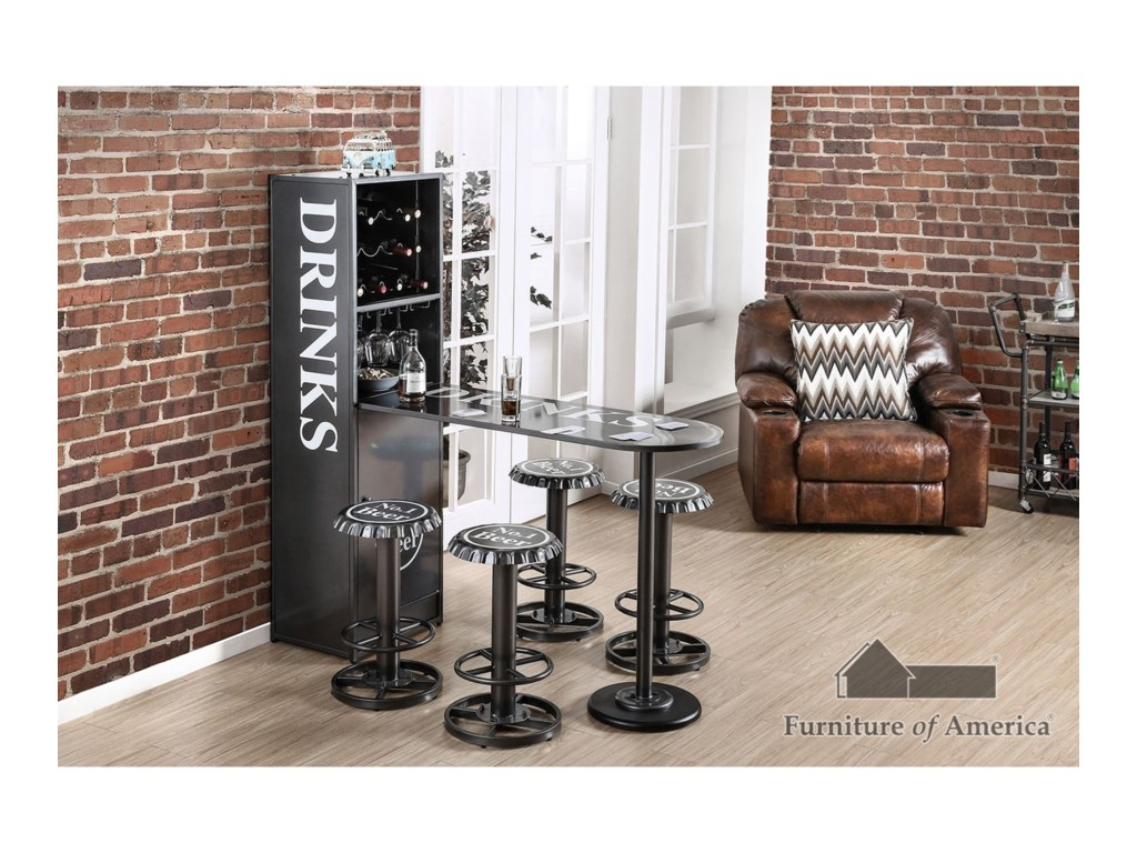 Furniture of America GalvanBar Table