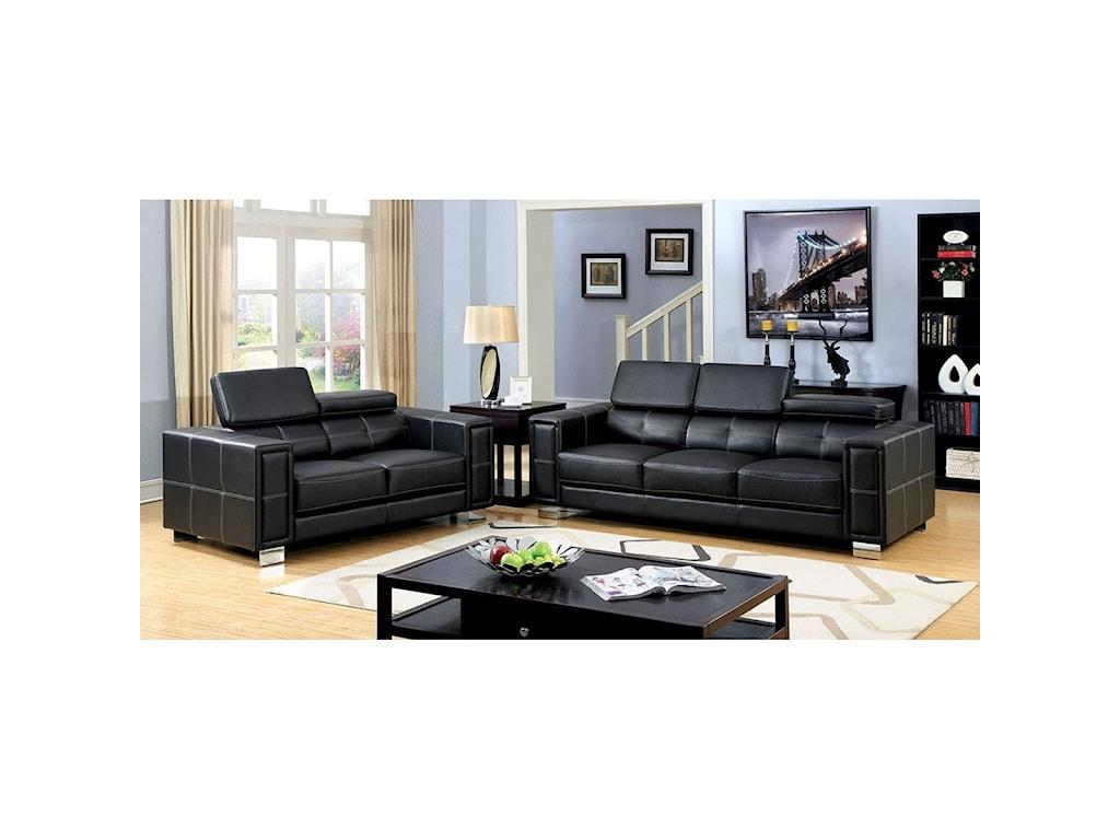 Furniture of America GarretSofa + Love Seat