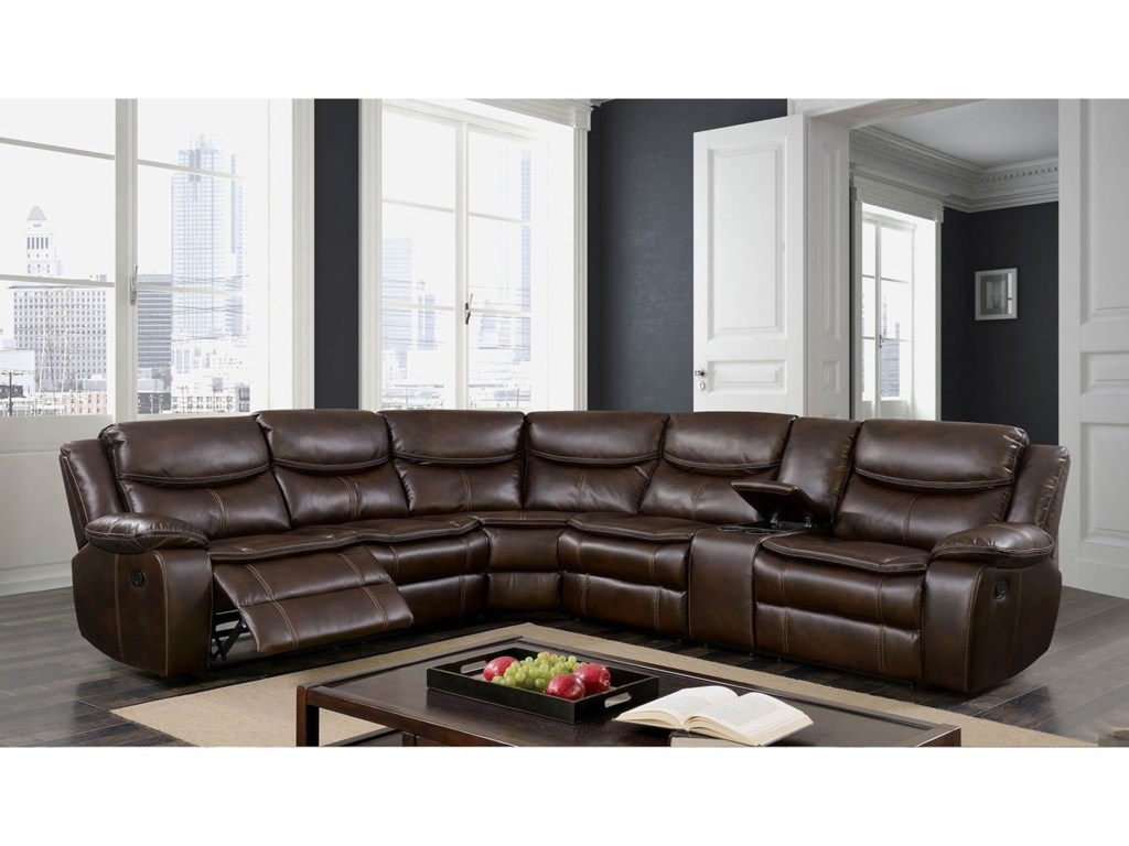 Furniture of America Gatria IIReclining Sectional w/ Console
