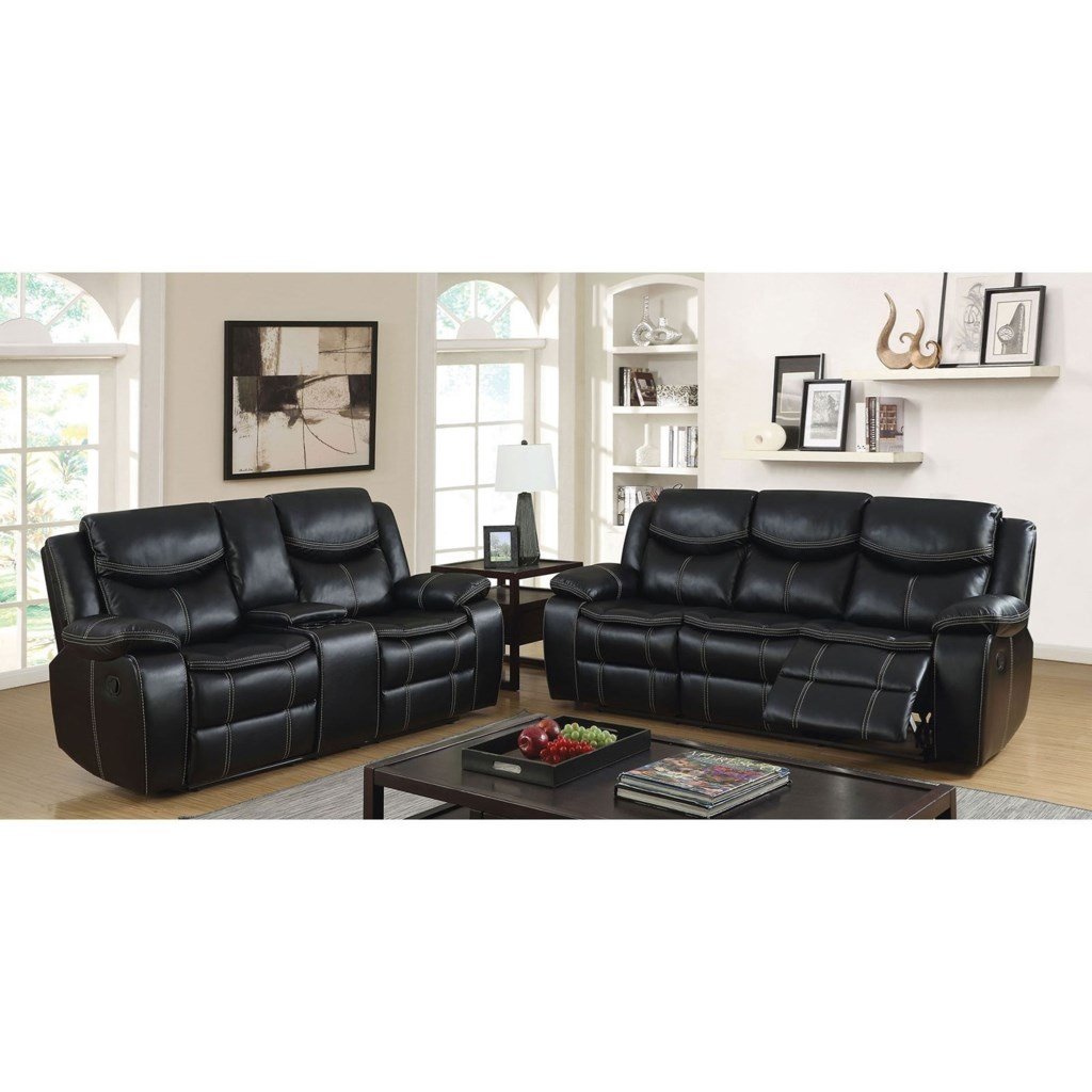 Furniture Of America Gatria Reclining Sofa And Loveseat With