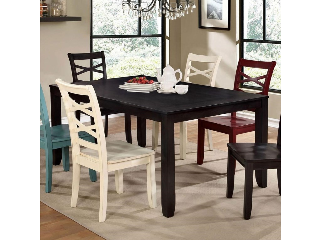 Furniture Of America Giselle Transitional Dining Table