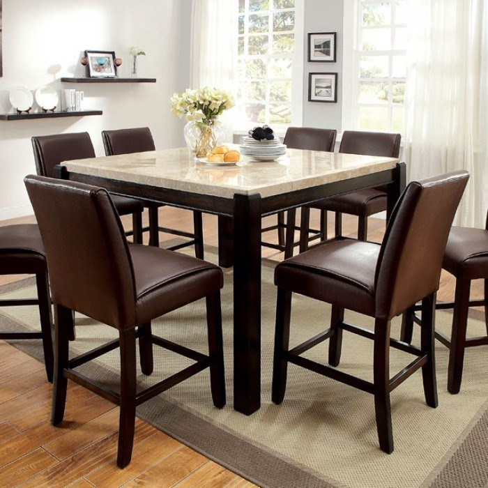Counter Height Dining Set With Marble Top