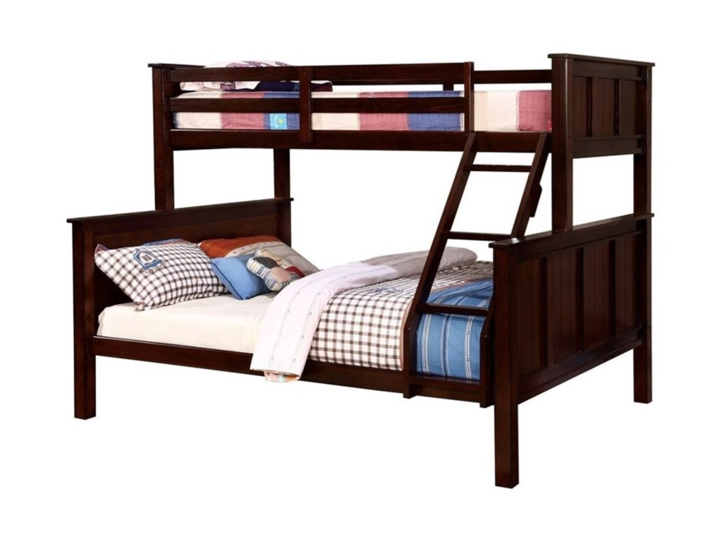 Furniture Of America Gracie Transitional Twin Over Queen Bunk Bed