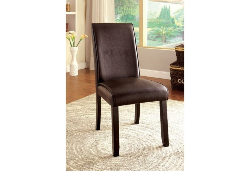 Gladstone I Contemporary Pack Of 2 Upholstered Leatherette Side Chairs Household Furniture Dining Side Chairs