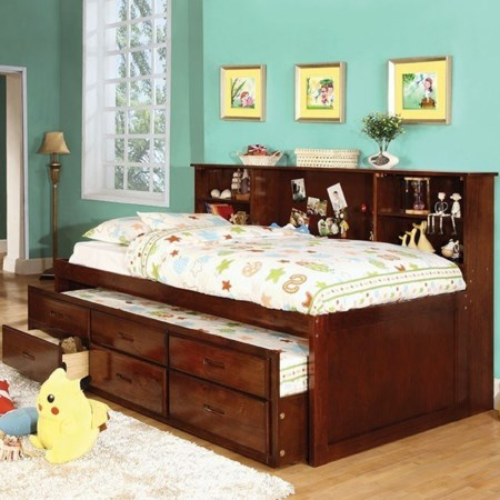 Captain Full Bed with Trundle and 3 Drawers