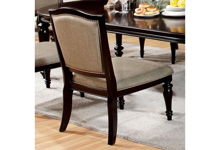 Harrington Transitional Side Chair With Nailhead Trim Household Furniture Dining Side Chairs
